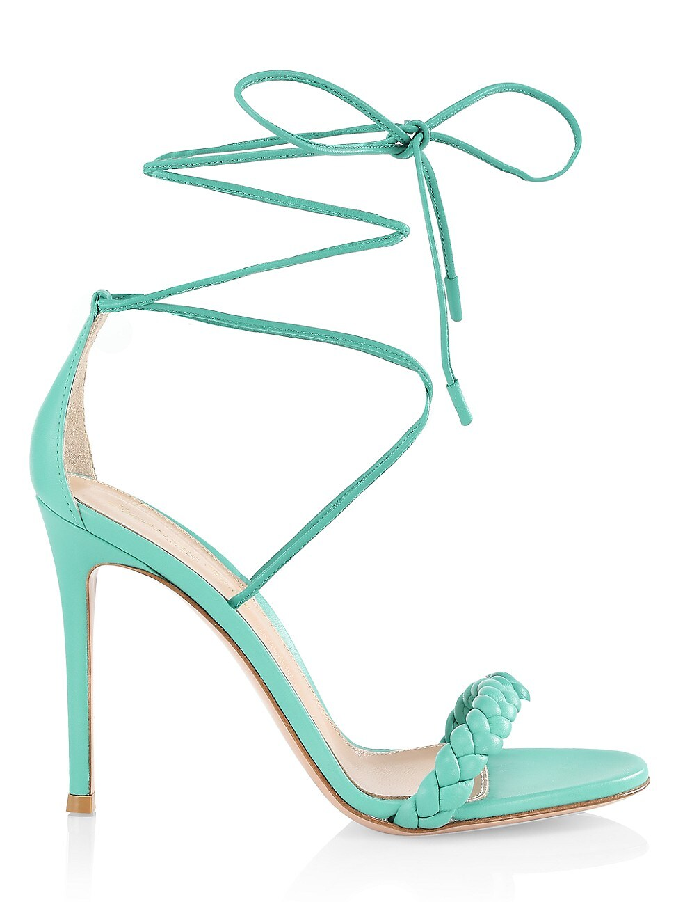 Gianvito Rossi Leathers WOMEN'S LEOMI BRAIDED LEATHER SANDALS