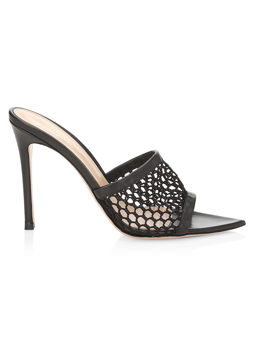 Gianvito Rossi WOMEN'S RUBY ROSE MESH LEATHER MULES