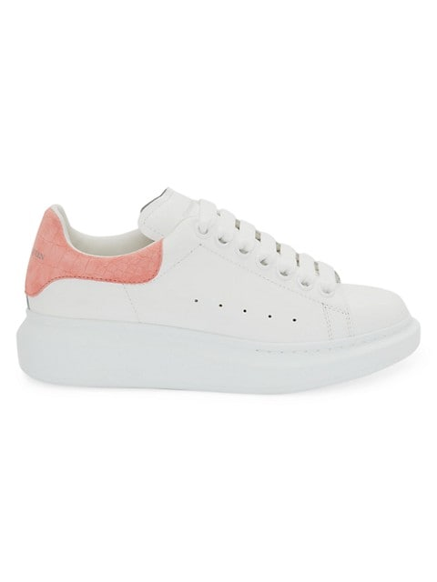 Women's Croc-Embossed & Suede Oversized Sneakers