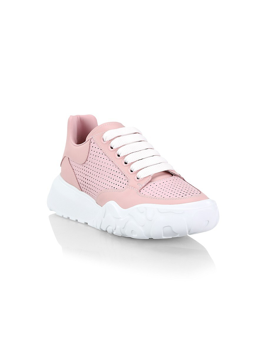 ALEXANDER MCQUEEN Leathers WOMEN'S WOMEN'S COURT LEATHER SNEAKERS