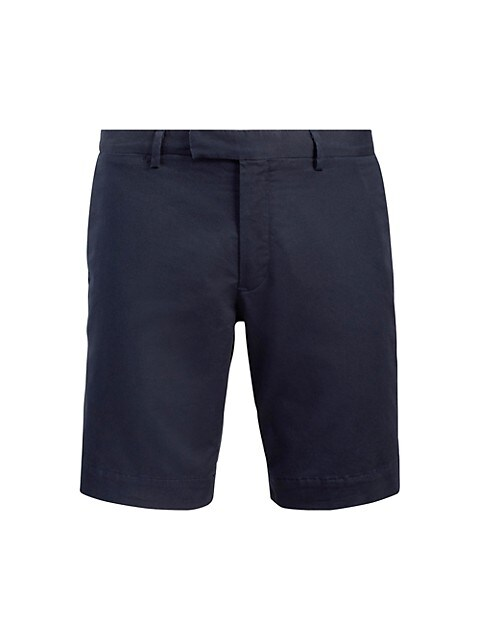 Stretch Slim-Fit Military Shorts