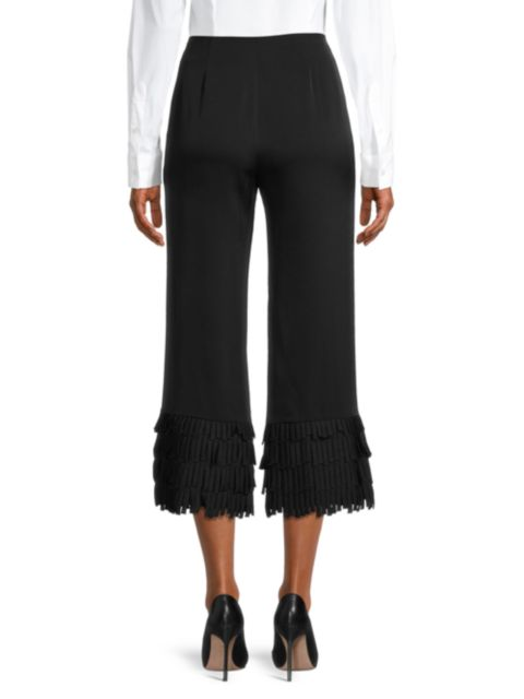 Milly Fringe Cuff Pants | SaksFifthAvenue