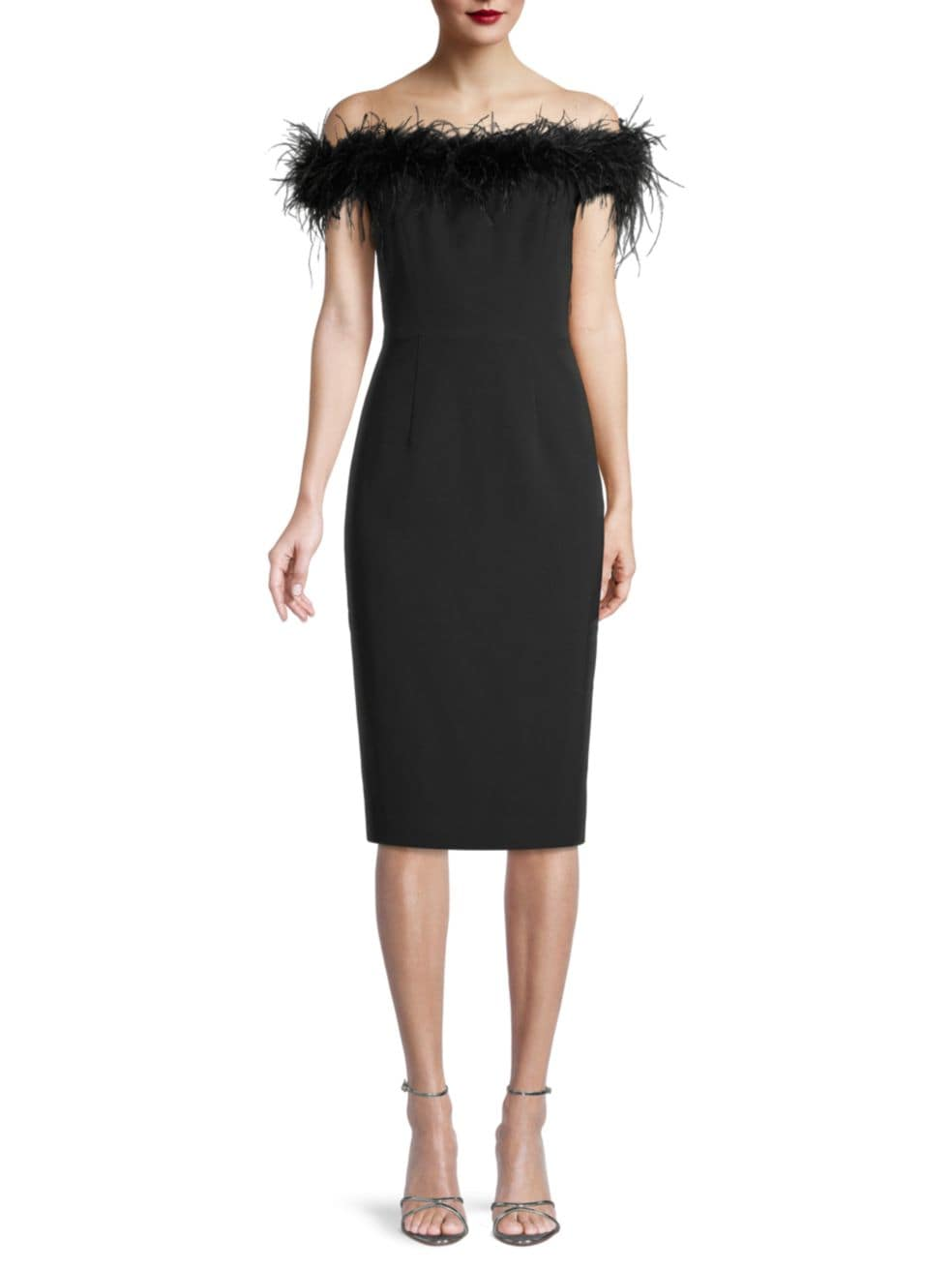 Milly Cady Feather Bodice Dress | SaksFifthAvenue