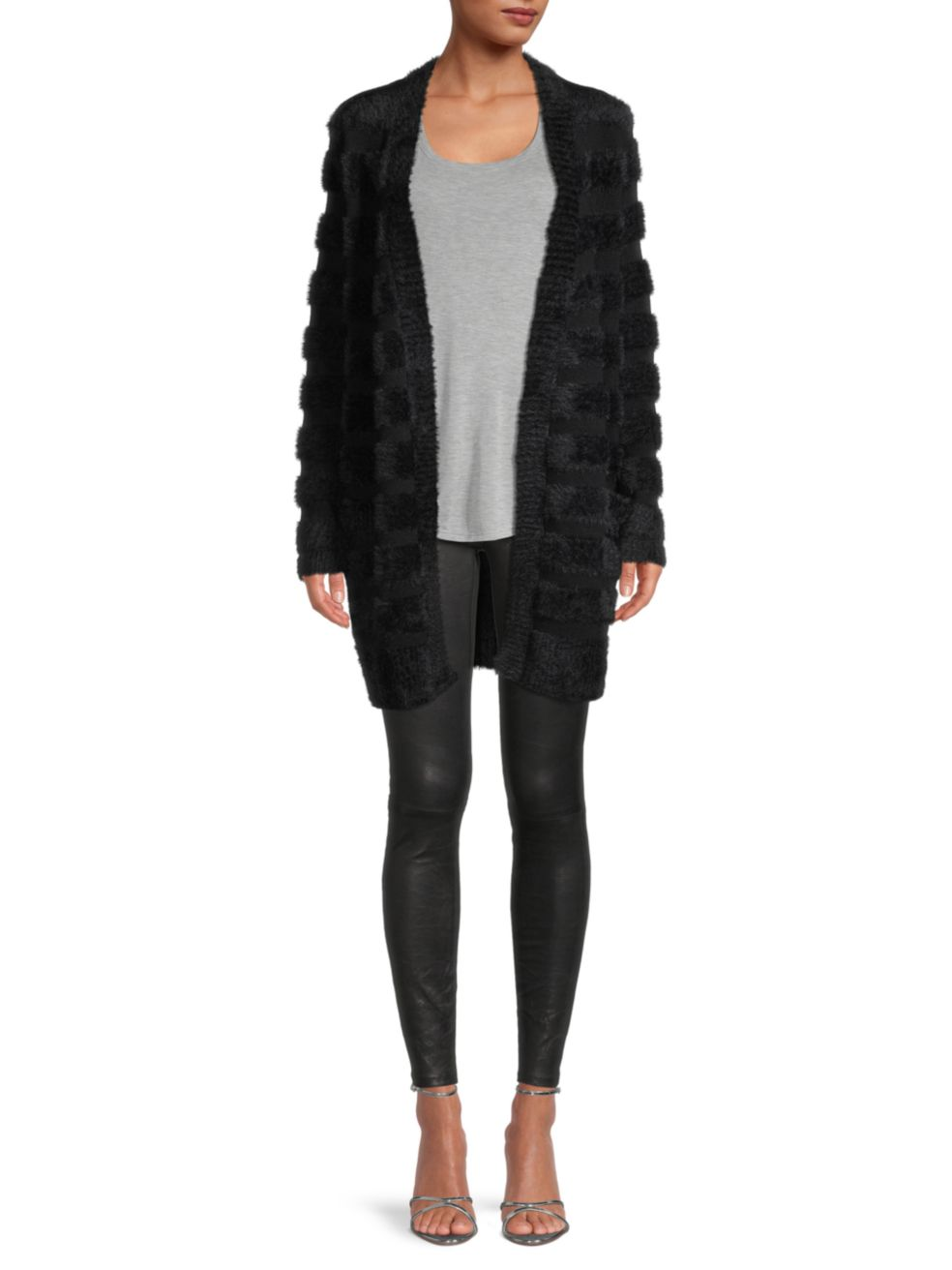 Milly Fuzzy Knit Wrap Cardigan | SaksFifthAvenue