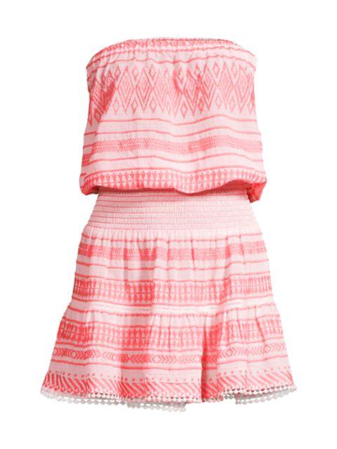 Ramy Brook Josefa Smocked Mini Dress   SaksFifthAvenue