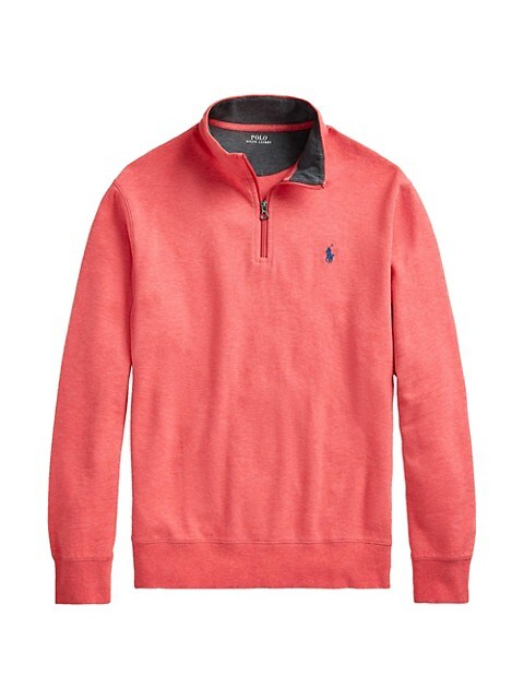 Polo Ralph Lauren Double-Knit Quarter-Zip Pullover