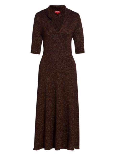 Staud Breck Knit Midi Dress | SaksFifthAvenue