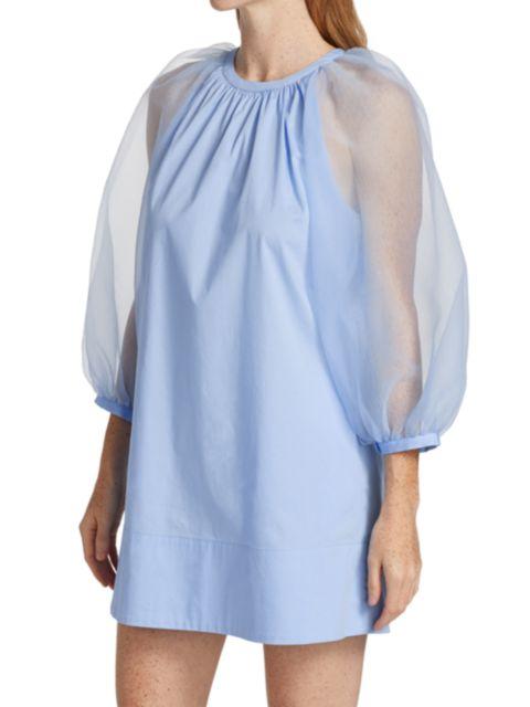Staud Garden Puff-Sleeve Mini Dress | SaksFifthAvenue