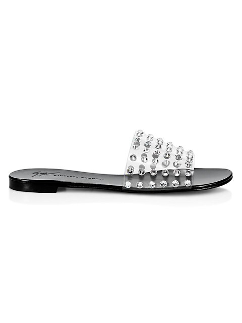 Crystal-Embellished PVC Slides