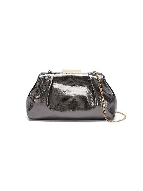 Mini Florence Embossed Metallic Leather Clutch