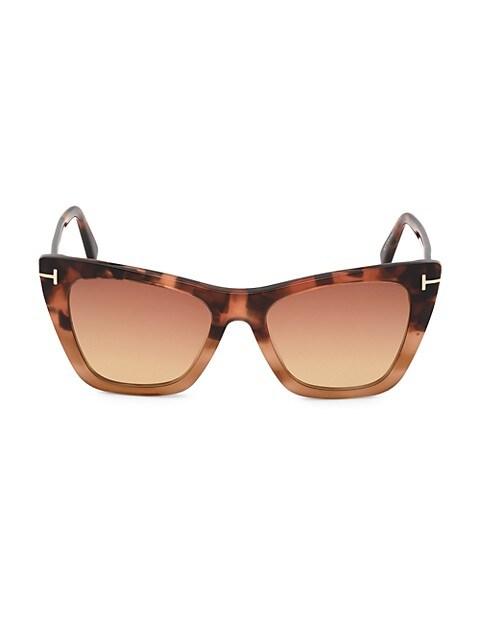 Poppy 53MM Cat Eye Sunglasses