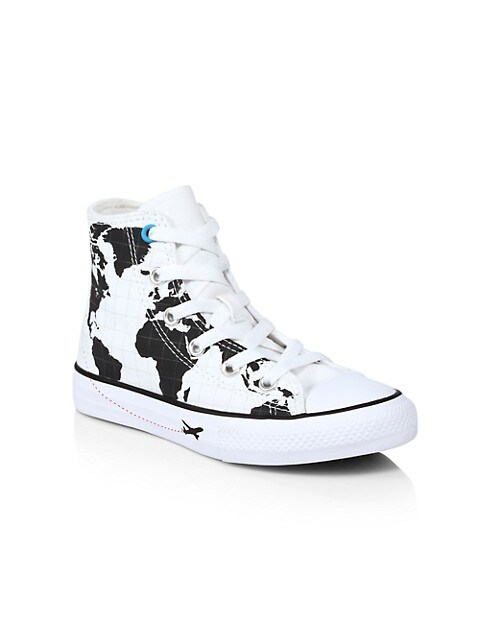 Boy's Chuck Taylor All Star High-Top Map Sneakers