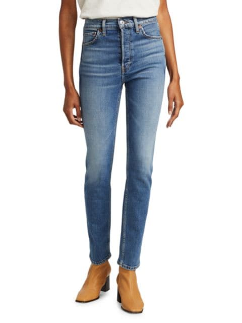 Re/done 80s Slim Straight Jeans | SaksFifthAvenue