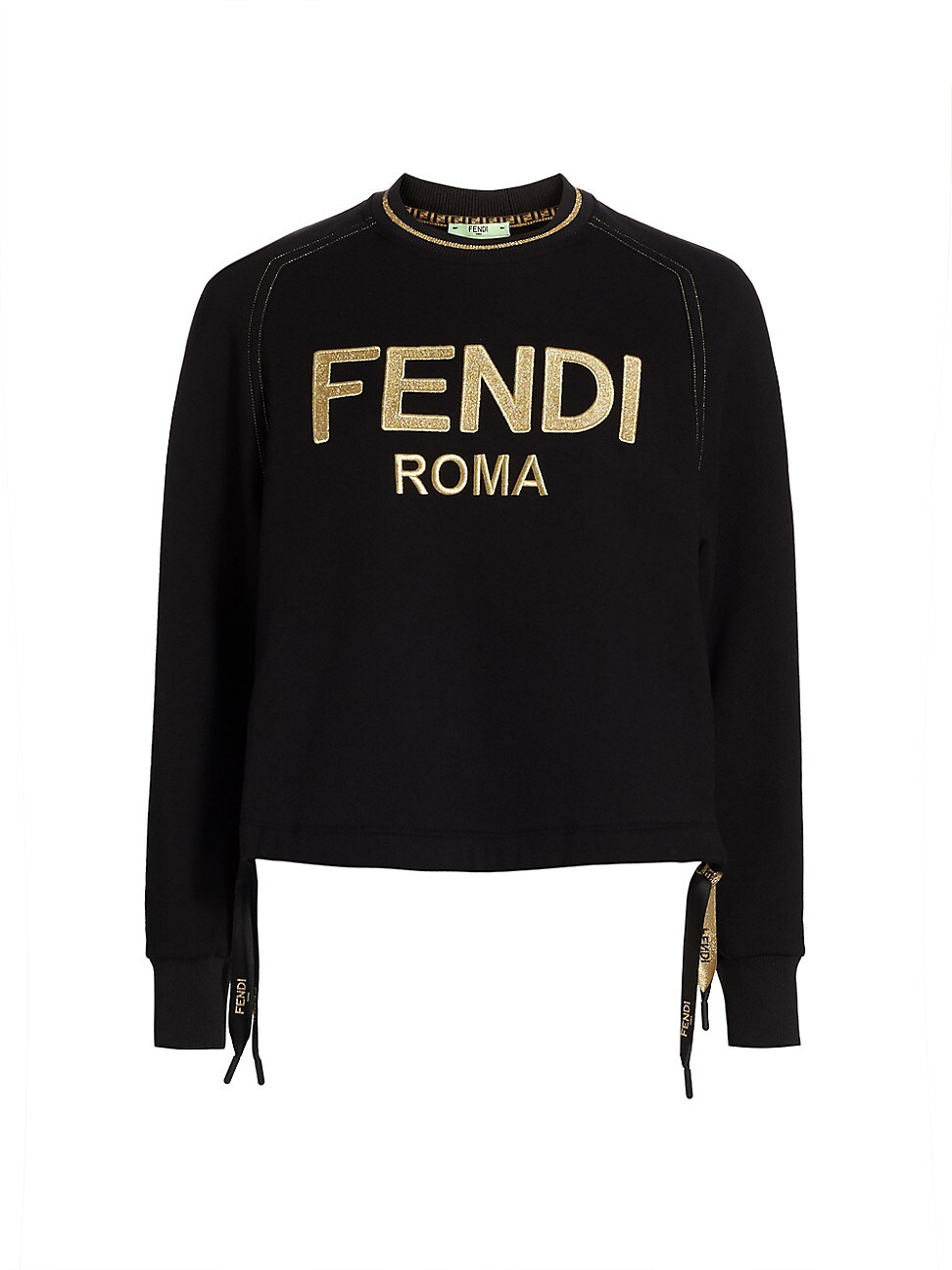 Fendi WOMEN'S LOGO BOW CREWNECK SWEATSHIRT