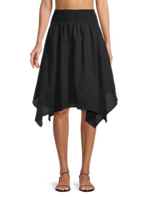 Le Swim Tortola Seersucker Skirt | SaksFifthAvenue