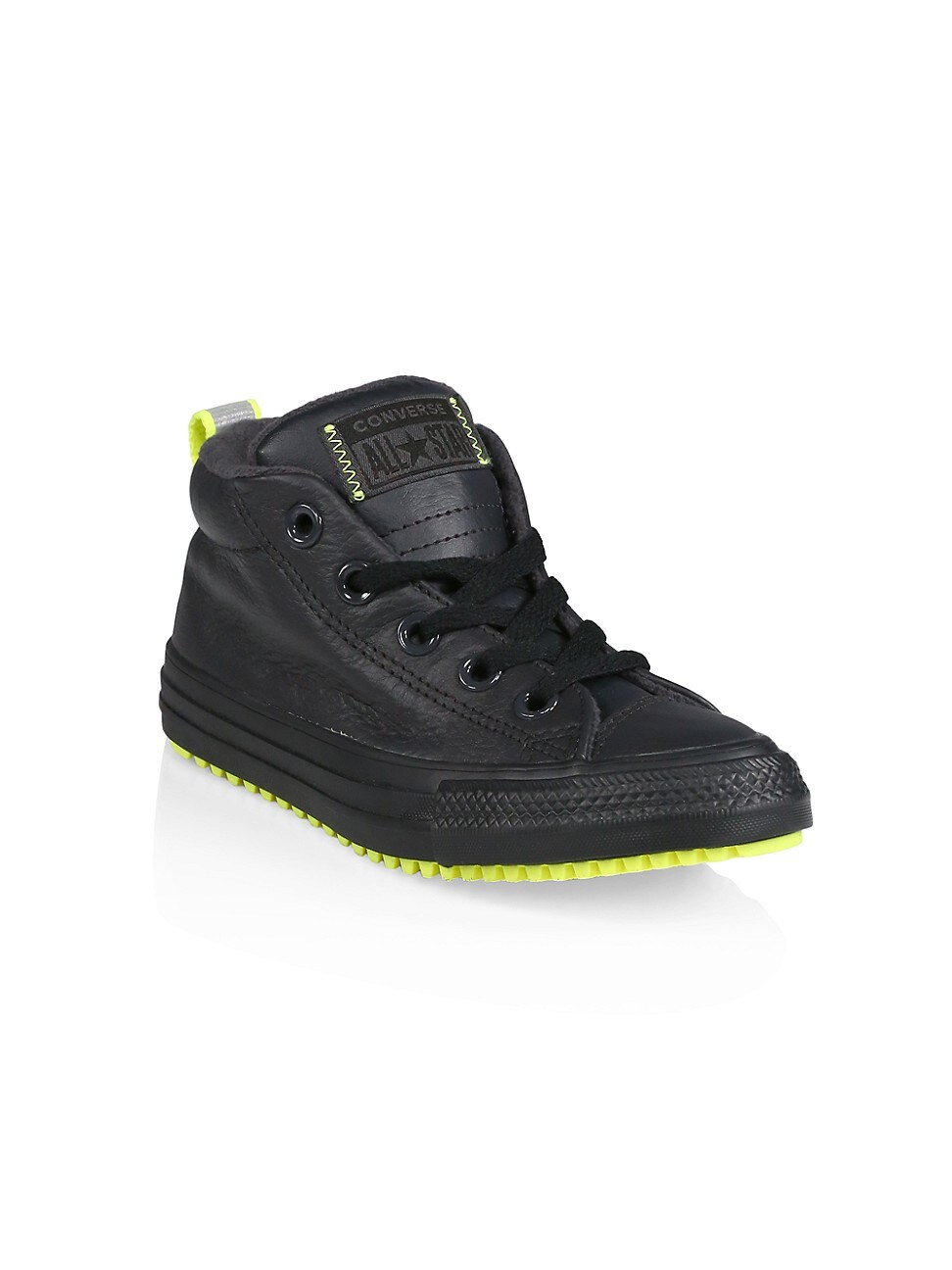 CONVERSE BOY'S CHUCK TAYLOR ALL STAR LEATHER MID-TOP SNEAKERS