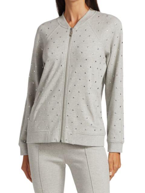 Joan Vass Petite Embellished Stretch-Cotton Jacket | SaksFifthAvenue