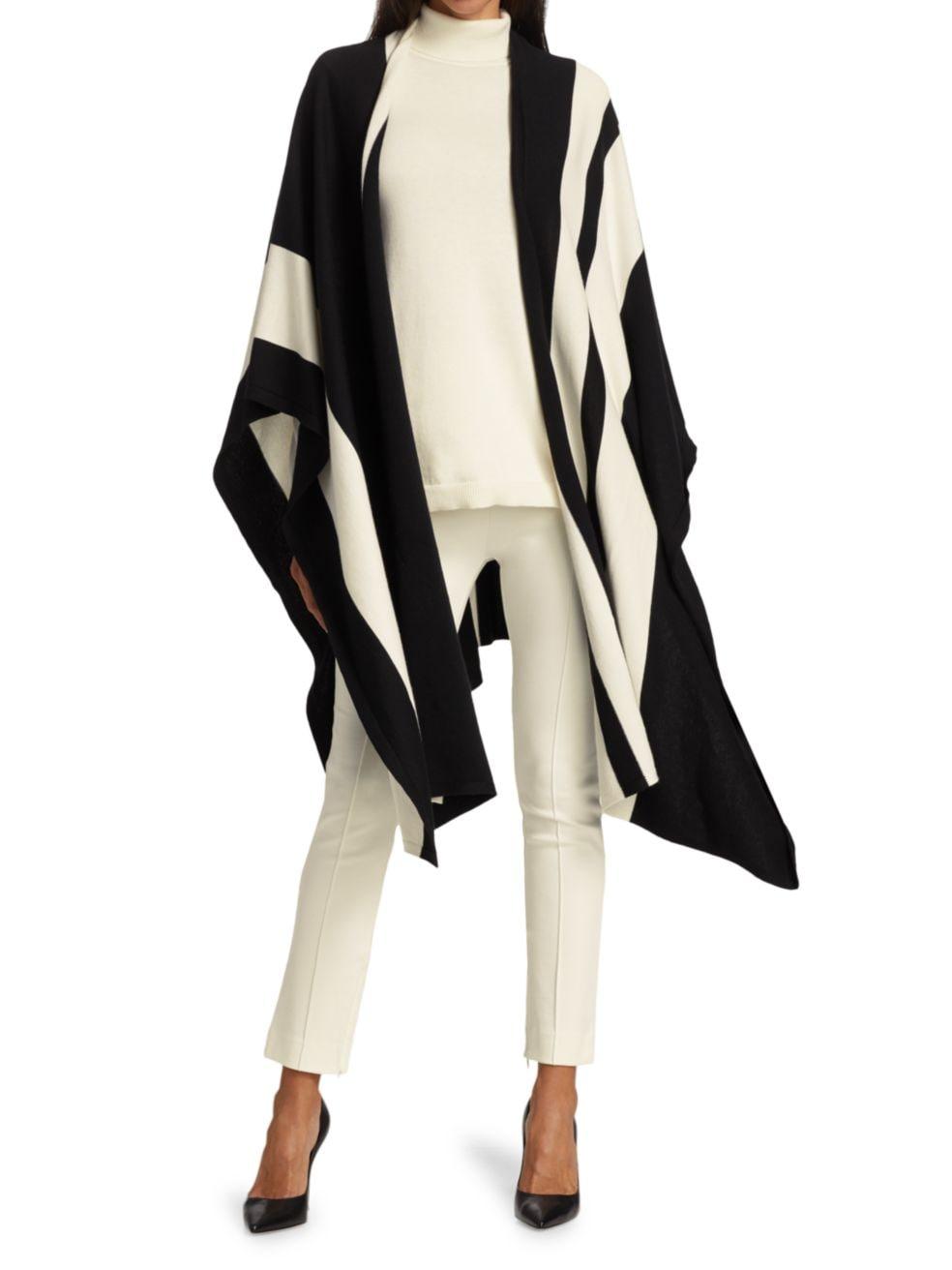 Joan Vass Petite Stripe Wrap   SaksFifthAvenue