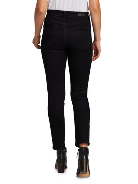 AG Jeans Mari High-Rise Slim Straight Jeans | SaksFifthAvenue
