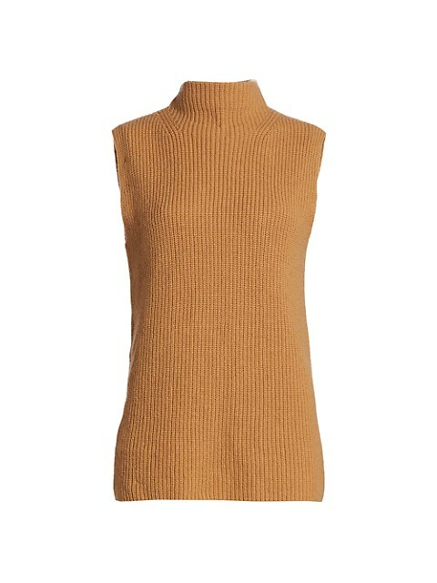 Devin Mockneck Rib Sleeveless Sweater