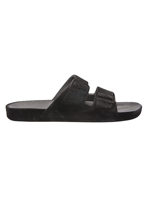 Bond Velvet Two-Strap Slides