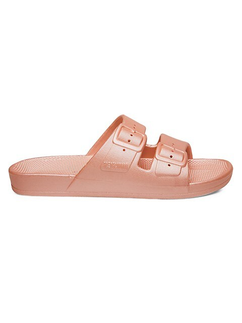 Darling Metallic Two-Strap Slides