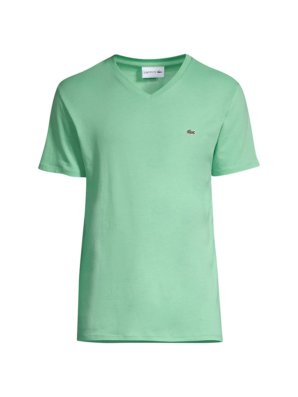 Lacoste WOMEN'S SOLID V-NECK JERSEY T-SHIRT
