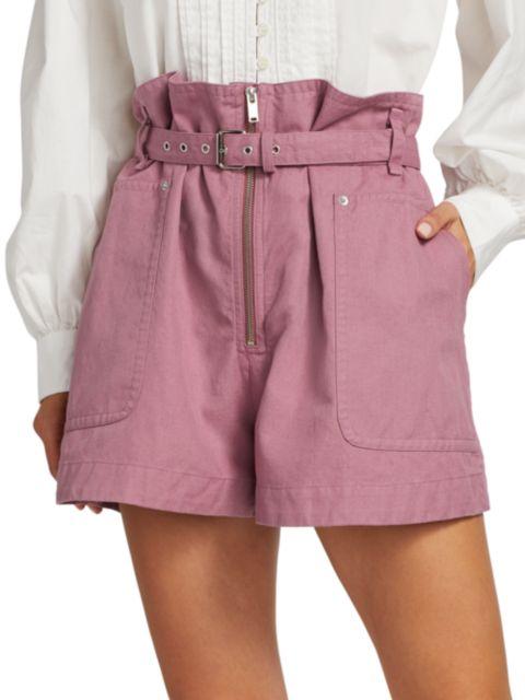 Isabel Marant Etoile Parana Belted High-Rise Shorts | SaksFifthAvenue