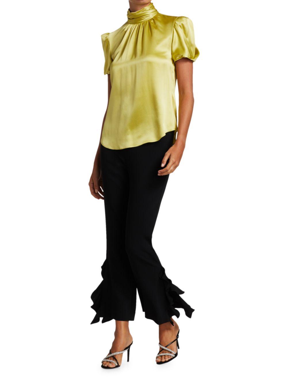 Cinq à Sept Justine Highneck Silk Blouse | SaksFifthAvenue
