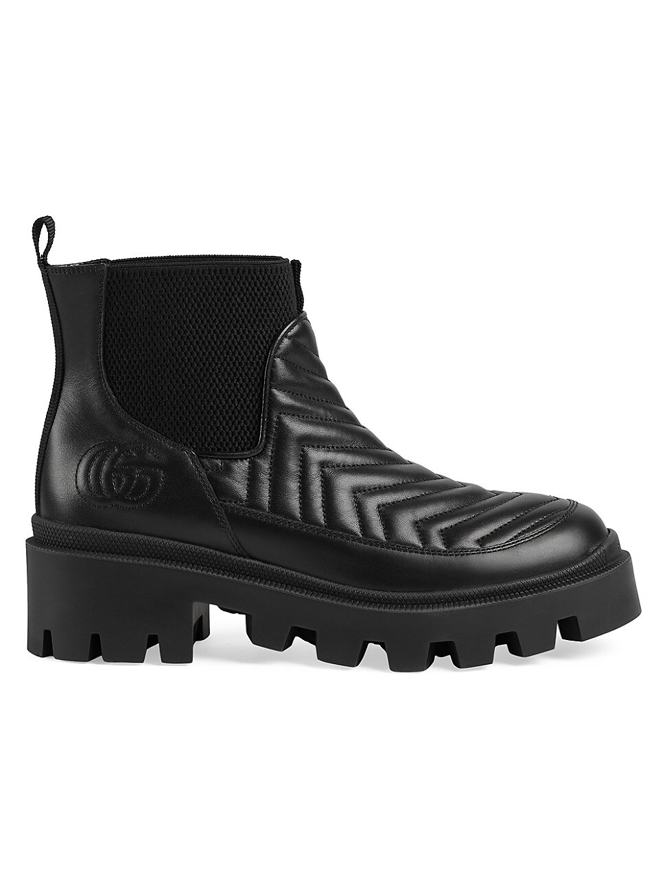 Gucci Leathers WOMEN'S FRANCES LEATHER BOOTS