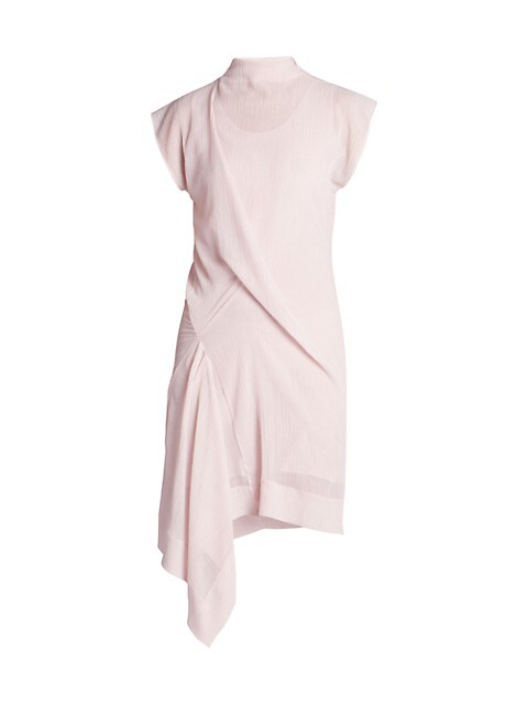 Rober Gathered Asymmetric Dress