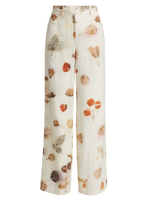 Floral Printed Full-Leg Pants