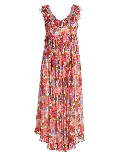 Poppy Frill Edge Midi Dress