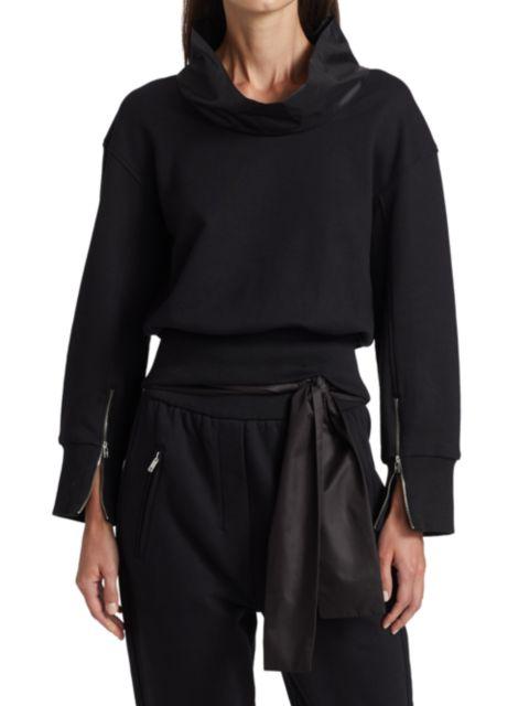 3.1 Phillip Lim Cowlneck French Terry Sweatshirt | SaksFifthAvenue