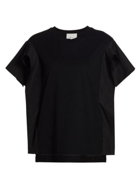 3.1 Phillip Lim Combo Ruffle Sleeve T-shirt | SaksFifthAvenue