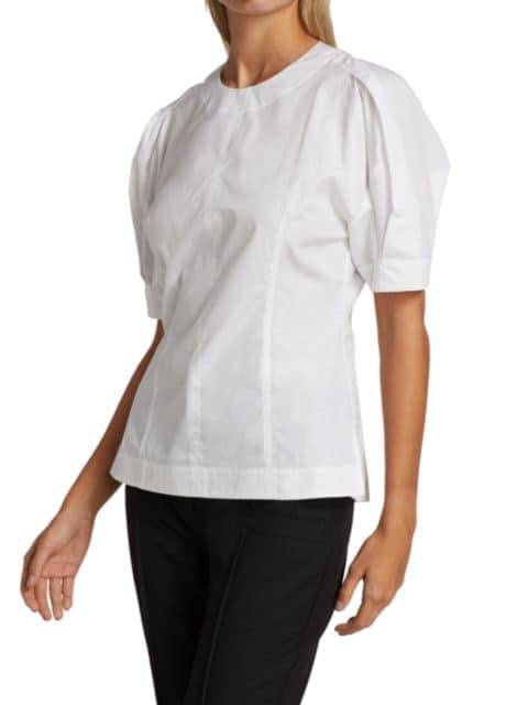 3.1 Phillip Lim Back Zip Short Sleeve Top | SaksFifthAvenue