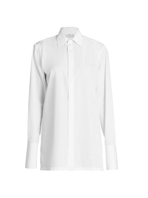 French-Cuffs Button-Down Shirt