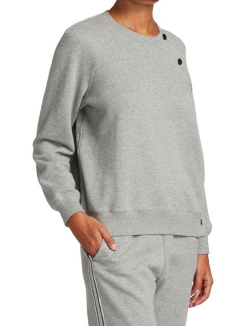 Derek Lam 10 Crosby Liana Snap Sweatshirt | SaksFifthAvenue