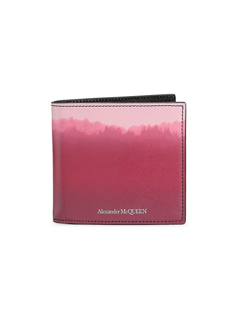 Dip-Dyed Leather Billfold Wallet