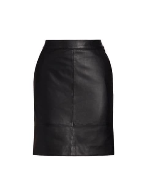 Gestuz Char Leather Mini Skirt   SaksFifthAvenue