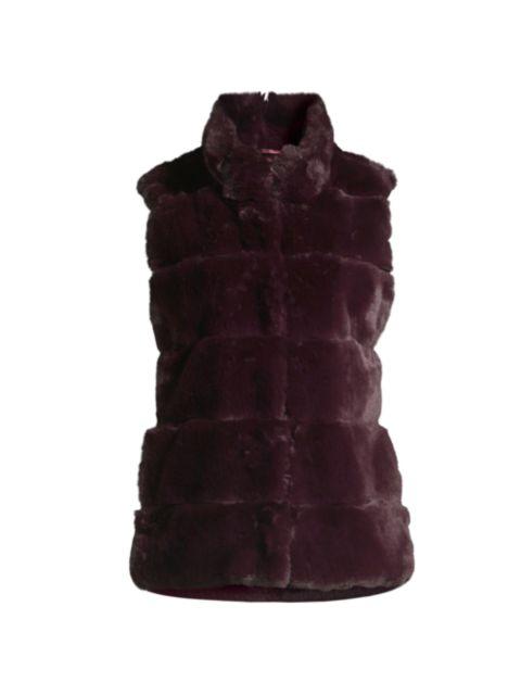 Milly Kira Striped Faux Fur Vest   SaksFifthAvenue