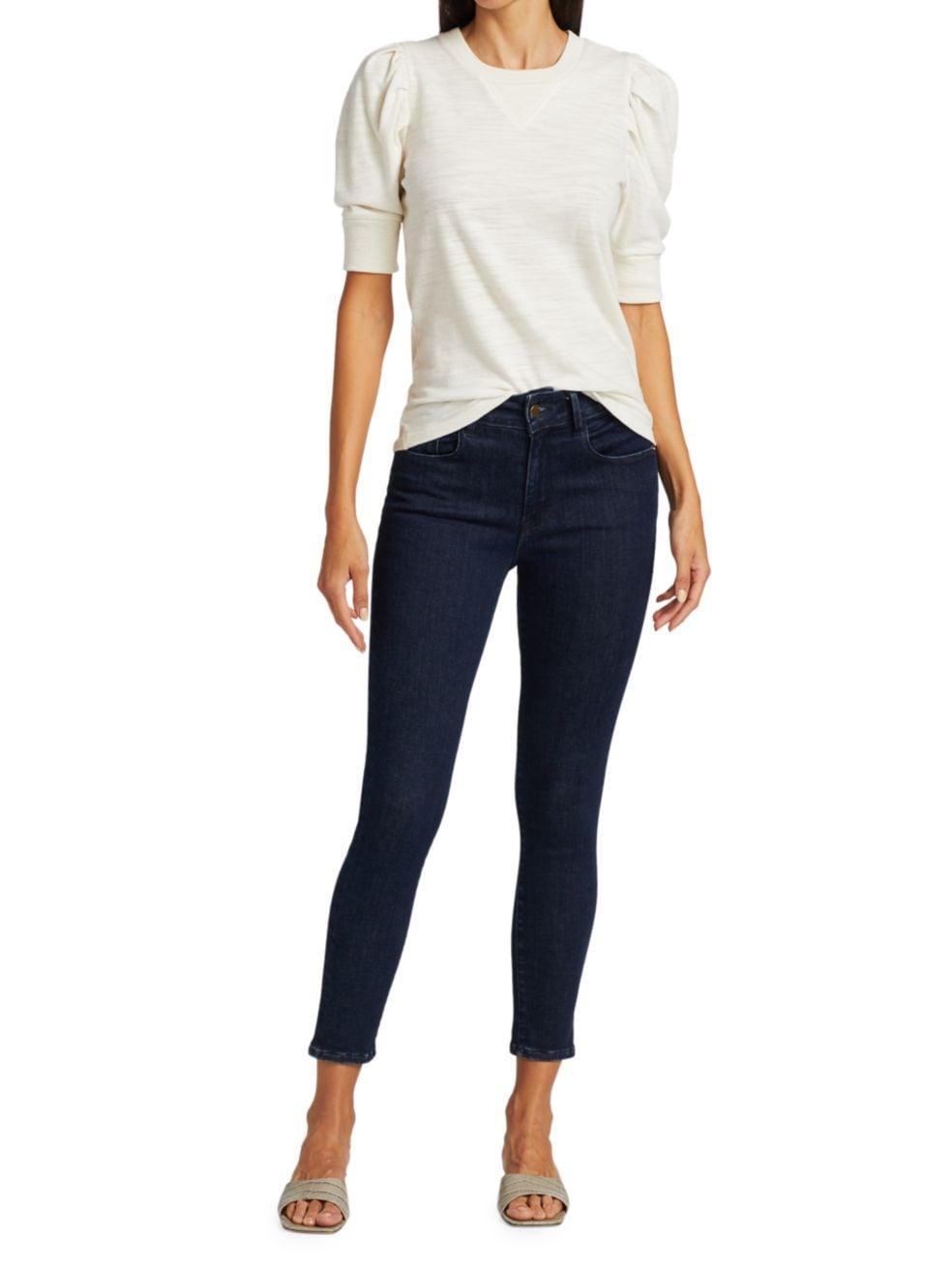 Frame Le One Skinny Cropped Jeans | SaksFifthAvenue