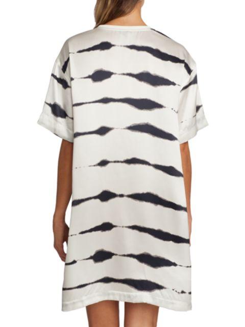 ATM Anthony Thomas Melillo Tie-Dye Stripe Silk T-Shirt Dress | SaksFifthAvenue