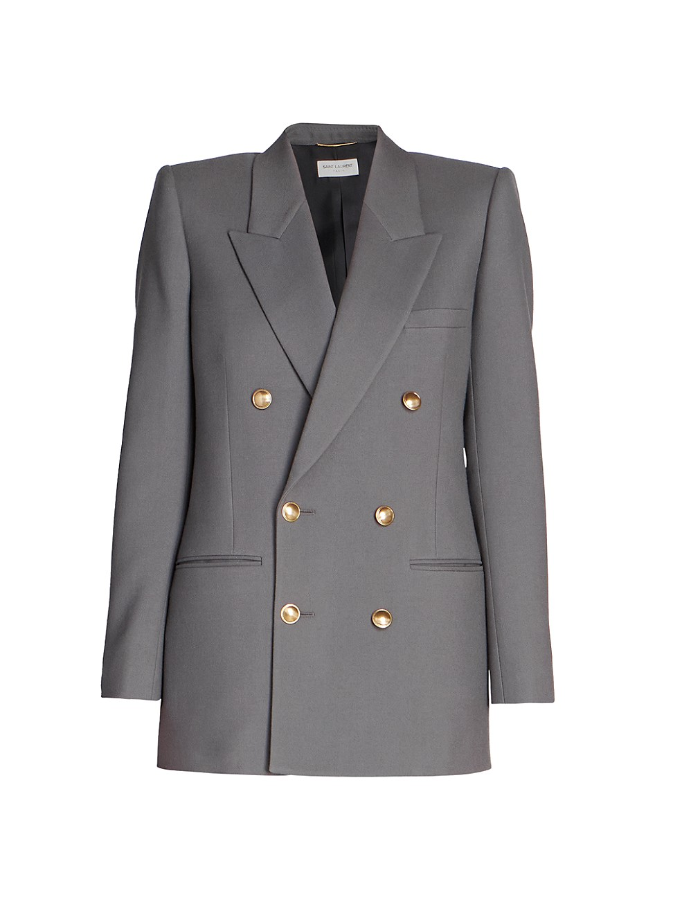 Saint Laurent WOMEN'S WOOL-BLEND DOUBLE BREASTED JACKET