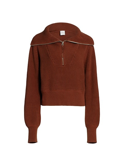 Mentone Quarter-Zip Knit Top