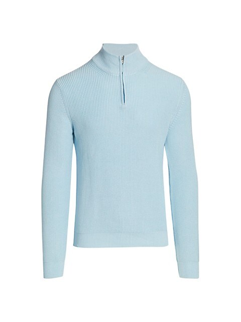 COLLECTION Solid Quarter-Zip Sweater