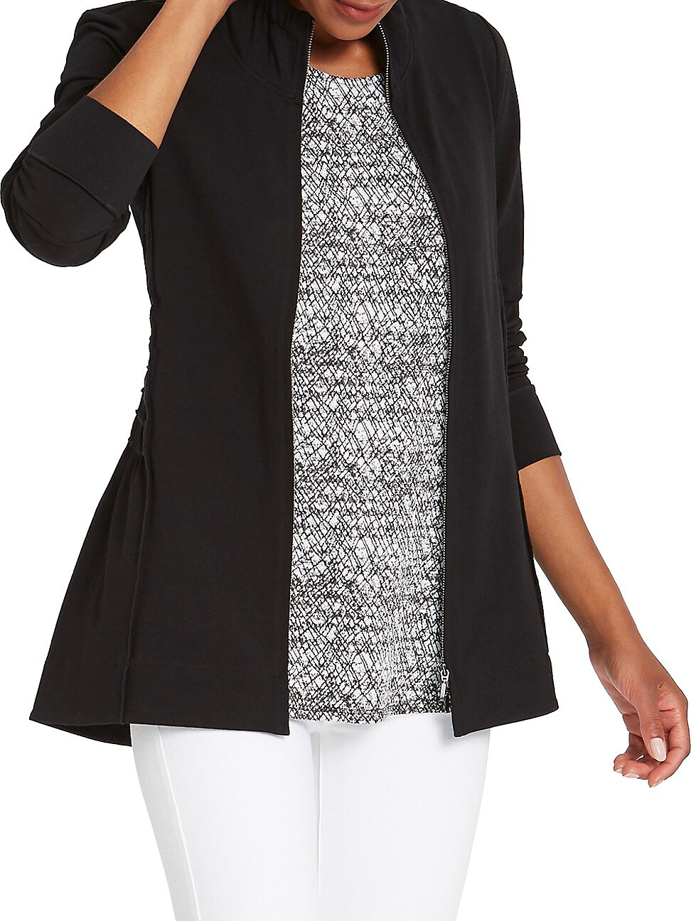 Nic + Zoe WOMEN'S PERFECT KNIT RUCHED JACKET