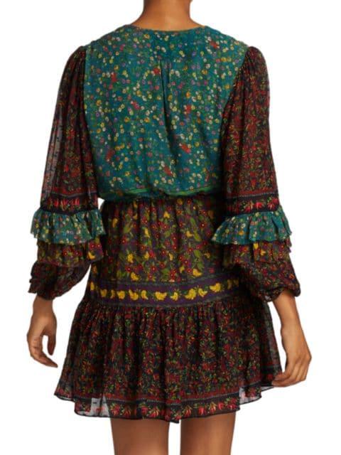 Farm Rio Mixed Print Mini Dress | SaksFifthAvenue