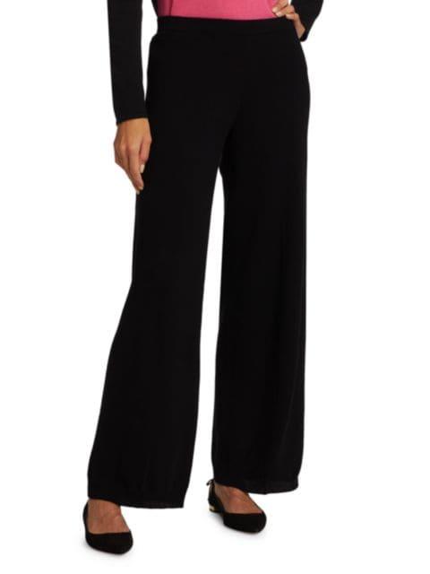 Joan Vass Wide-Leg Wool & Cashmere Sweater Pants | SaksFifthAvenue