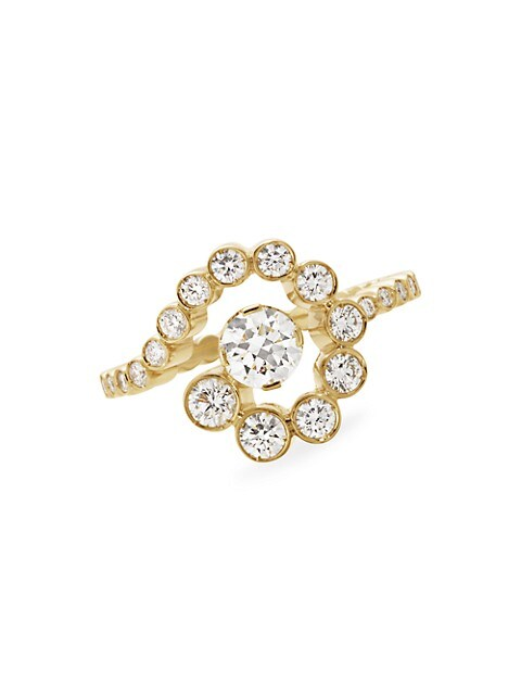 Wild Beauty 18K Yellow Gold & Diamond Escargot De Diamant Ring